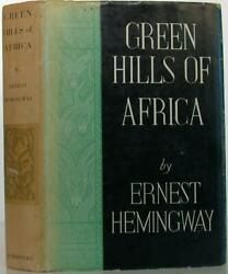 Ernest Hemingway / The Green Hills Of Africa First Edition 1935 106950