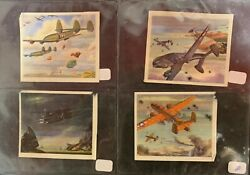 Lot Of 4 1940 Wwii Coca-cola Fighter Plane Navy Army Air Force Advertising Cards