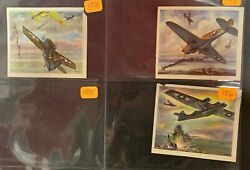 Lot Of 431940 Wwii Coca Cola Fighter Plane Navy Army Air Force Advertising Cards