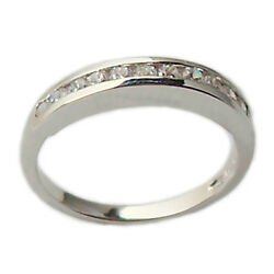 Ring Engagement Faith Money Clip White Gold 18 Carats with Diamonds
