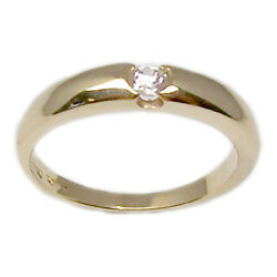 Engagement Ring Yellow Gold 18 Carats with Diamond Bright Faith Women's