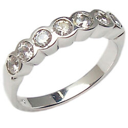 Veretta Ring Faith Engagement White Gold 18 Carats Women's with Natural Diamonds