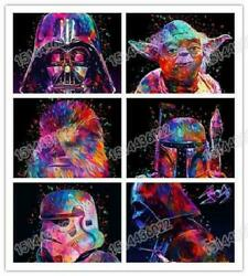 Colorful Star Wars Diy 5d Diamond Painting Full Drill Embroidery Art