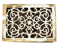 Antique Cast Iron Heater Vent Floor Cover Grate Architectural Salvage Star 1800s