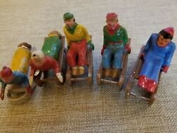 Collector Barclay Sled Train Figurines, Made In France Rare Train Set Figurines