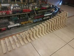 G Scale Model Train Garden Trestle Redwood 24 Pieceup To 12use With Lgb Lionel