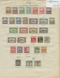 Hungary Overprint Fiume 1918-1924c Collection Mixed Conditions