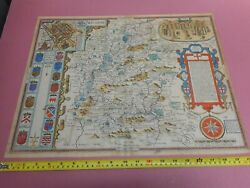 100 Original Large Wiltshire Map By John Speed C1614 Hand Coloured