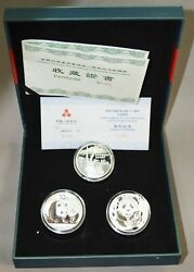 2011 China 10 Yuan Official Commemorative Silver Coin 50th Anniv Wwf 3 Piece Set