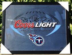 New Coors Light Tennessee Titans Beer Bar Sign Pub Football Nfl Nfc Mirror