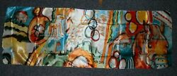 Billy Mills Tribute Scarf Colorful Design Horse Native American Olympic Ring NEW