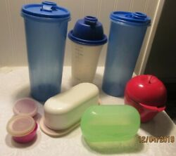 Tupperware Mixed Lot Of 8 Pieces Containers, Apple Holder, Butter Dish..........