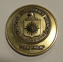 Central Intelligence Agency Cia The Farm Bronze Challenge Coin