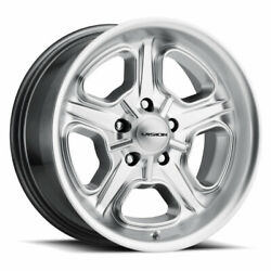 1 Vision 147 Wheel Rim 15x7 5x4.75 5x120.65 6mm Hyper Silver 15and039and039 Inch