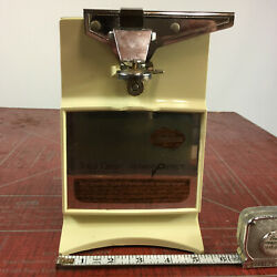 Vintage Sunbeam Automatic Electric Can Opener And Sharpener Atomic Kitchen Retro