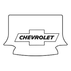 Trunk Floor Mat Cover For 37-39 Chevy Convertible Hi-def. Rubber W/g-010 Bowtie