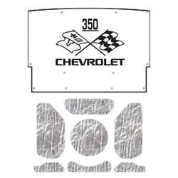 Hood Insulation Pad Heat Shield For 1964 Chevrolet A-body With Ceid-350 X-flags