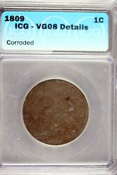1809 - Icg Vg08 Details Classic Head Large Cent Hd0255