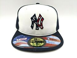 New York Yankees 2011 Stars And Stripes New Era 59fifty Size 7 3/8 American Flag