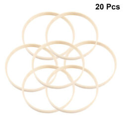 20 Pcs Dreamcatcher Rings Bamboo Diy Craft Making Materials For Decor Wind Chime