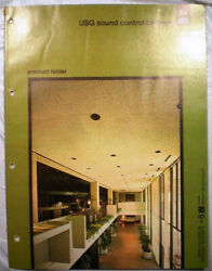 Usg United States Gypsum Sound Control Ceilings Catalog Asbestos Board 1970and039s