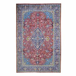 6and0397x9and0394 Red Vintage Mahal Design Good Condition Tribal Oriental Rug G47110
