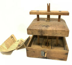 Rare Antique Wooden English Mouse Trap Deadfall Country Farmhouse Old Growth