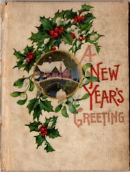 A New Yearand039s Greeting Hayes Litho Co.1911. 1912 Message Poetry