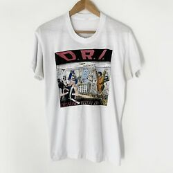 1985 D.r.i. Dealing With It Vintage Band Rock Shirt 80s 1980s Dri Dirty Rotten