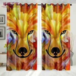 Lion HeadCurtain For  Bedroom Living Room With Painted Graffiti Figure Abstract