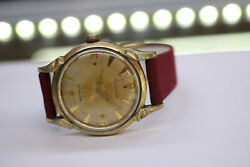 Vintage Mens Benrus 3 Star Self Winding Watch Serviced Gold Tone Serviced
