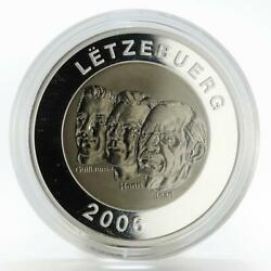Luxembourg 20 Euro 150th Anniversary Of State Council Titanium Silver Coin 2006