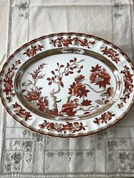 Spode Copeland Indian India Tree 13 Oval Platter New Mark Chinoiserie Toile