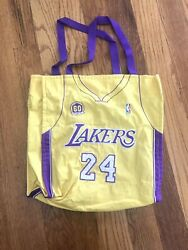 Kobe Bryant Los Angeles Lakers Nba 24 Jersey Tote Bag By Forever Collectibles
