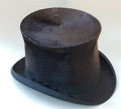 Antique C. 1879 C.h. Cutting And Co North Adamas, Mass. Silk Top Hat