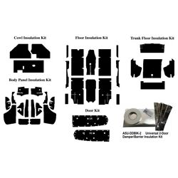 Insulation Sound Deadener Kit For 67-68 Ford Mustang Convertible Shield Complete