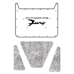 Hood Insulation Pad Cover For 62-64 Plymouth Fury Acoustihood Kit W/mb-068 Fury