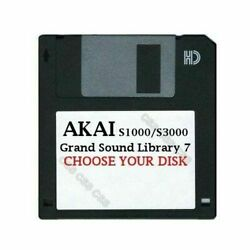 Akai S1000  S3000 Floppy Disk Grand Sound Library 7 Choose Your Disk