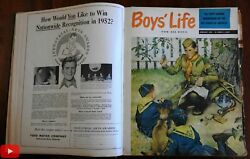 Boyand039s Life 1952 Complete Annual Run 12 Issues W/ Comics Covers Ads