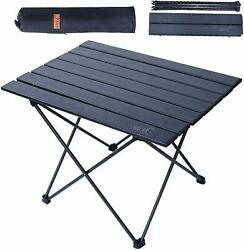 Outdoor Portable Folding Aluminum Table Lightweight Camping Picnic With Bag