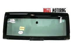 2007-2013 Jeep Wrangler Front Windshield Glass And Frame Glass Black