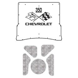 Hood Insulation Pad Heat Shield For 1973-75 Chevy A-body With Ceid-350 X-flags