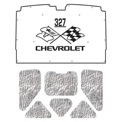 Hood Insulation Pad Heat Shield For 1978-83 Chevy A-body With Ceid-327 X-flags