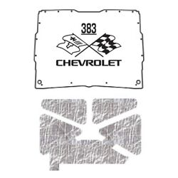 Hood Insulation Pad Heat Shield For 1952-1993 Gmc Sonoma Under Cover W/ceid-383