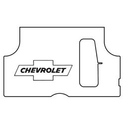 Trunk Floor Mat Cover And Insulation For 1953-1954 Chevy Rear With G-010 Bowtie
