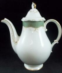 Royal Doulton Fontainebleau Green Coffee Pot With Lid H4978 Great Condition