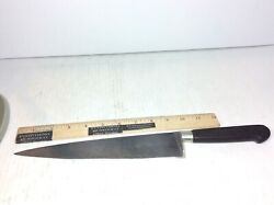 Antique Sabatier Chef Knife W Rare Early Seal Logo 9.25 Long Carbon Steel Blade