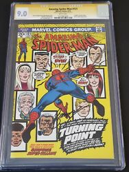 Amazing Spider-man 121 Cgc Ss 9.0 Vf/nm Wh Gerry Conway Signed Death Gwen Stacy