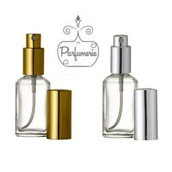 30 Ml. Spray Glass Atomizer Bottles Square Short For Perfume Cologne And Blends