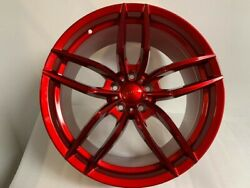 20 Staggered Candy Red V Style Rims For Bmw 6 Series F01 Awd Xdrive 2011+